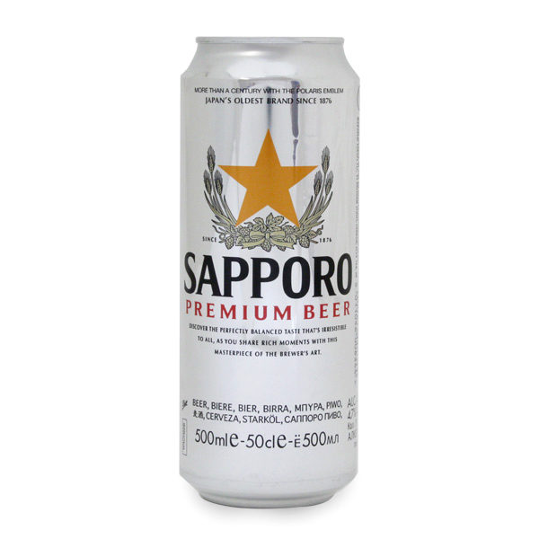 Sapporo in can 0,5